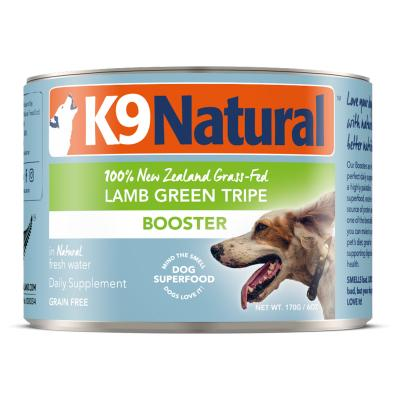 K9 Natural Booster Lamb Green Tripe Canned Wet Digestive Supplement For Dogs 170gm x 24