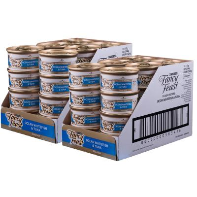 Fancy Feast Ocean Whitefish And Tuna Adult Canned Wet Cat Food 85g x 48