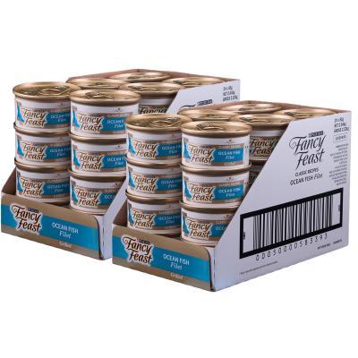 Fancy Feast Ocean Fish Filet Adult Canned Wet Cat Food 85g x 48