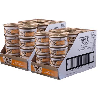 Fancy Feast Decadent Roast Chicken Adult Canned Wet Cat Food 85g x 48