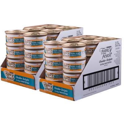 Fancy Feast Cheddar Delights Grilled Whitefish in Gravy Canned Wet Cat Food 85g x 48
