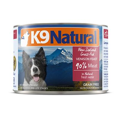 K9 Natural Grain Free Venison Feast Canned Wet Meat Dog Food 170gm x 24
