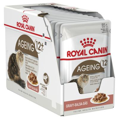 Royal Canin Ageing In Gravy 12+ Years Mature/Senior Pouches Wet Cat Food 85g x 12