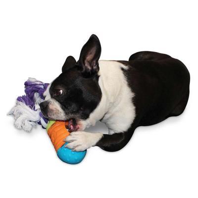AnimaTwists Rope Kibbler Treat Dispenser Extender Add On Builder Toy For Dogs