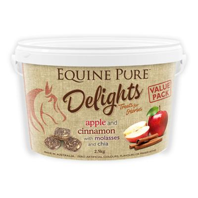 Equine Pure Delights Apple Cinnamon Molasses Chia Training Reward Treats For Horses 2.5kg