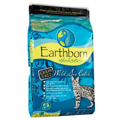 Earthborn Grain Free Wild Sea Catch Kitten And Adult Dry Cat Food 6.36kg
