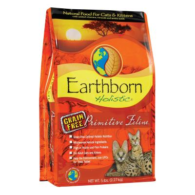 Earthborn Grain Free Primitive Turkey Chicken Kitten And Adult Dry Cat Food 2.27kg