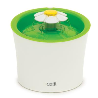 Catit 2.0 Senses Flower Water Fountain For Cats 3L With Triple Action Water Softening Filter For Cats