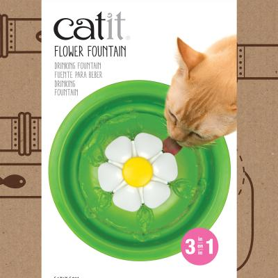 Catit 2.0 Senses Flower Water Fountain 3L With Triple Action Water Softening Filter For Cats
