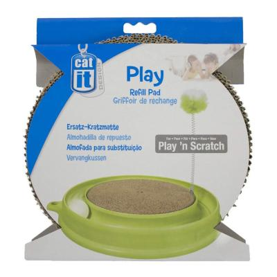 Catit Design Senses Play N Scratch Replacement Cardboard Scratcher Insert Toy For Cats
