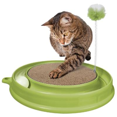 Catit Design Senses Play 'N Scratch Chase Ball And Scratcher Toy For Cats