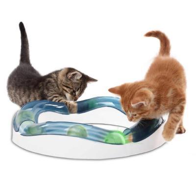 Catit Design Senses Speed Circuit Illuminated Roller Balls Track Toy For Cats