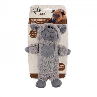 AFP Cuddle Cracklers Bottle Sheep Toy For Dogs