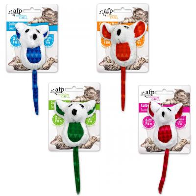 AFP Modern Cat Culbuto Mouse With Crinkle Toy For Cats