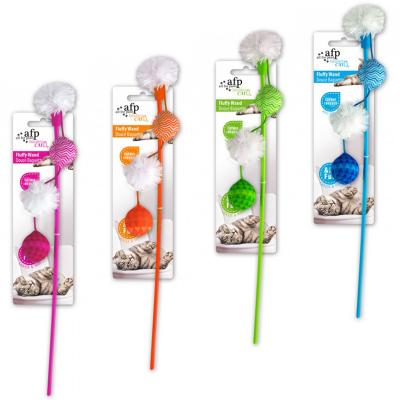 AFP Modern Cat Fluffy Wand Teaser Toy For Cats