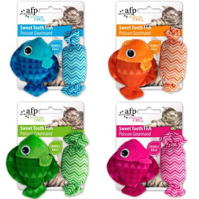 AFP Modern Cat Sweet Tooth Fish And Candy With Crinkle Toy For Cats