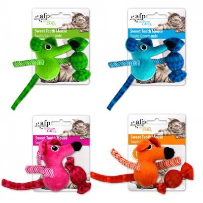 AFP Modern Cat Sweet Tooth Mouse And Candy With Crinkle Toy For Cats