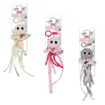 AFP Shabby Chic Ribbon Octopus Toy For Cats