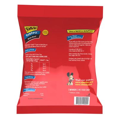 Schmackos Strapz With Beef Treat For Dogs 500g