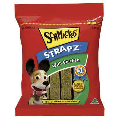 Schmackos Strapz With Chicken Treat For Dogs 500g