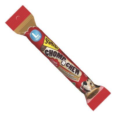 Schmackos Chomp N Chew Peanut Butter Chicken Large Single Treat For Dogs 60gm