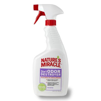 Natures Miracle 3 in 1 Odour Destroyer Unscented 709ml