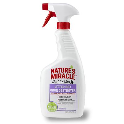 Natures Miracle Just For Cats Litter Box Odour Destroyer Spray 709ml