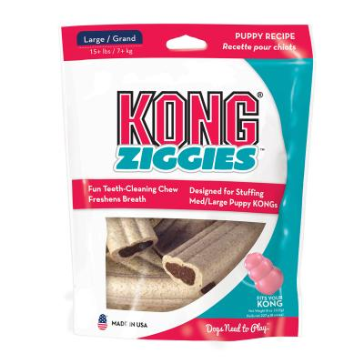KONG Ziggies Stuffins Puppy Treats For Large Dogs