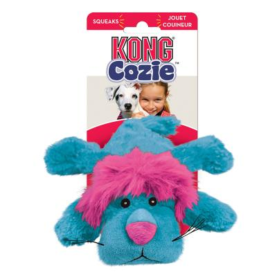 KONG Cozie King Lion Plush Squeak Small Toy For Dogs