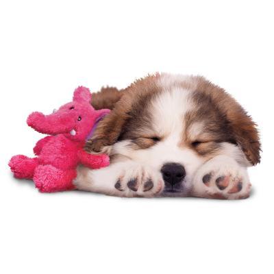 KONG Cozie Rosie Rhino Plush Squeak Medium Toy For Dogs