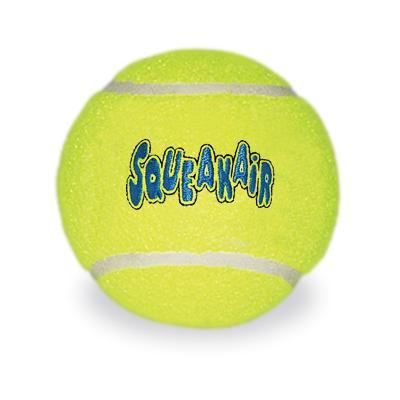 KONG AirDog Squeaker Balls Nonabrasive Felt Medium Toy For Dogs 3Pack