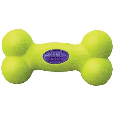 KONG AirDog Squeaker Bone Nonabrasive Felt Large Toy For Dogs