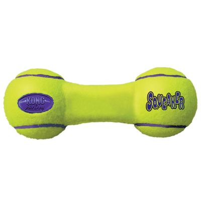 KONG AirDog Squeaker Dumbbell Nonabrasive Felt Medium Toy For Dogs