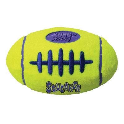 KONG AirDog Squeaker Football Nonabrasive Felt Small Toy For Dogs