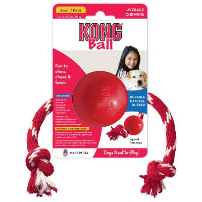 KONG Ball With Rope Small Toy For Dogs