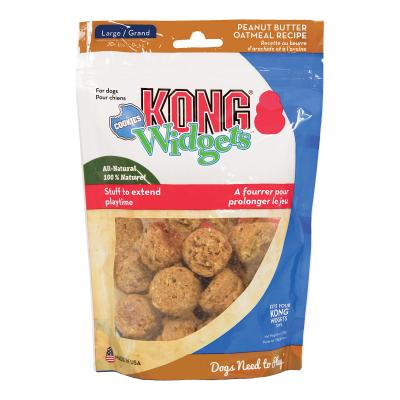 KONG Widgets Large Cookie Peanut Butter Oatmeal Treats For Dogs 170gm