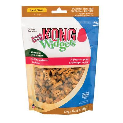 KONG Widgets Small Bone Peanut Butter Oatmeal Treats For Dogs 170gm