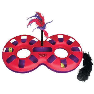 KONG Active Eight Track Multiplay Chase Catnip And Feather Toy For Cats