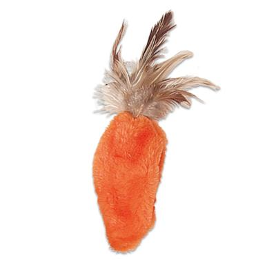KONG Refillables Feather Top Carrot Cuddly Catnip Toy For Cats