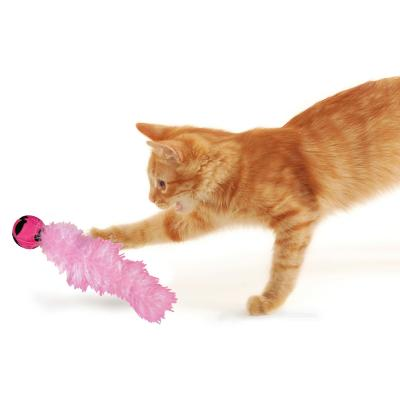 KONG Active Wild Tails Rattle And Feather Chase Toy For Cats