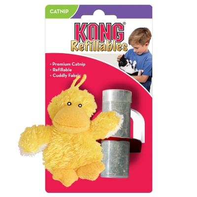 KONG Refillables Duckie Cuddly Catnip Toy For Cats