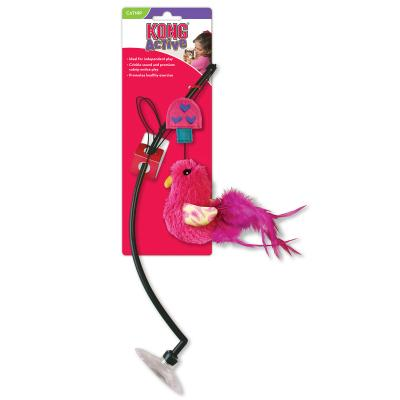 KONG Connects Window Teaser Feather Crinkle Catnip Toy For Cats