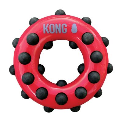 KONG Dotz Circle Large Dental Squeaker Bounce Toy For Dogs