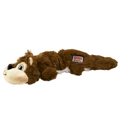 KONG Scrunch Knots Squirrel Large Stretchy Soft Squeak Toy For Dogs