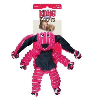 KONG Floppy Knots Bunny Medium Large Squeak Toy For Dogs