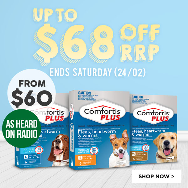 Comfortis Plus 6pks Up To $68 Off RRP