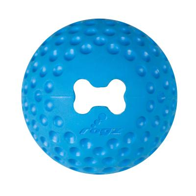 Rogz Gumz Bounce And Treat Ball Blue Large Toy For Dogs