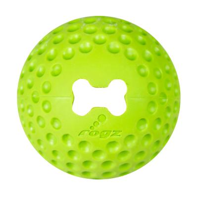 Rogz Gumz Bounce And Treat Ball Lime Medium  Toy For Dogs