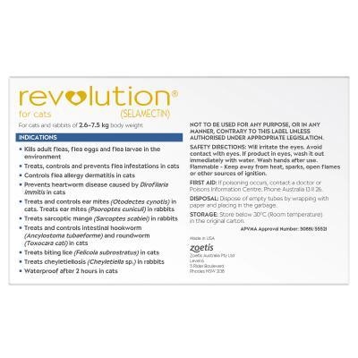 Revolution For Cats 2.6-7.5kg Blue 6 Pack
