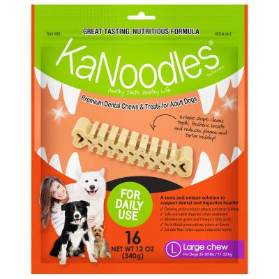 KaNoodles Dental Chew Large Treats For Dogs 16 Chews 340gm